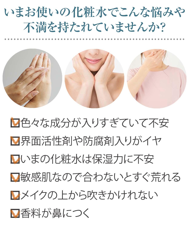 化粧水への不満